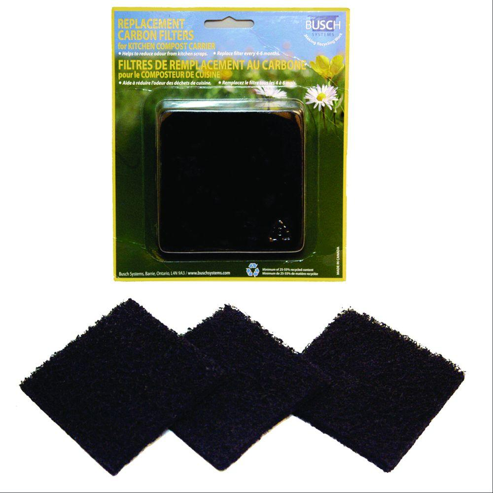 kitchen composter dishes sets exaco replacement carbon filters for the eco compost collector 3 pack