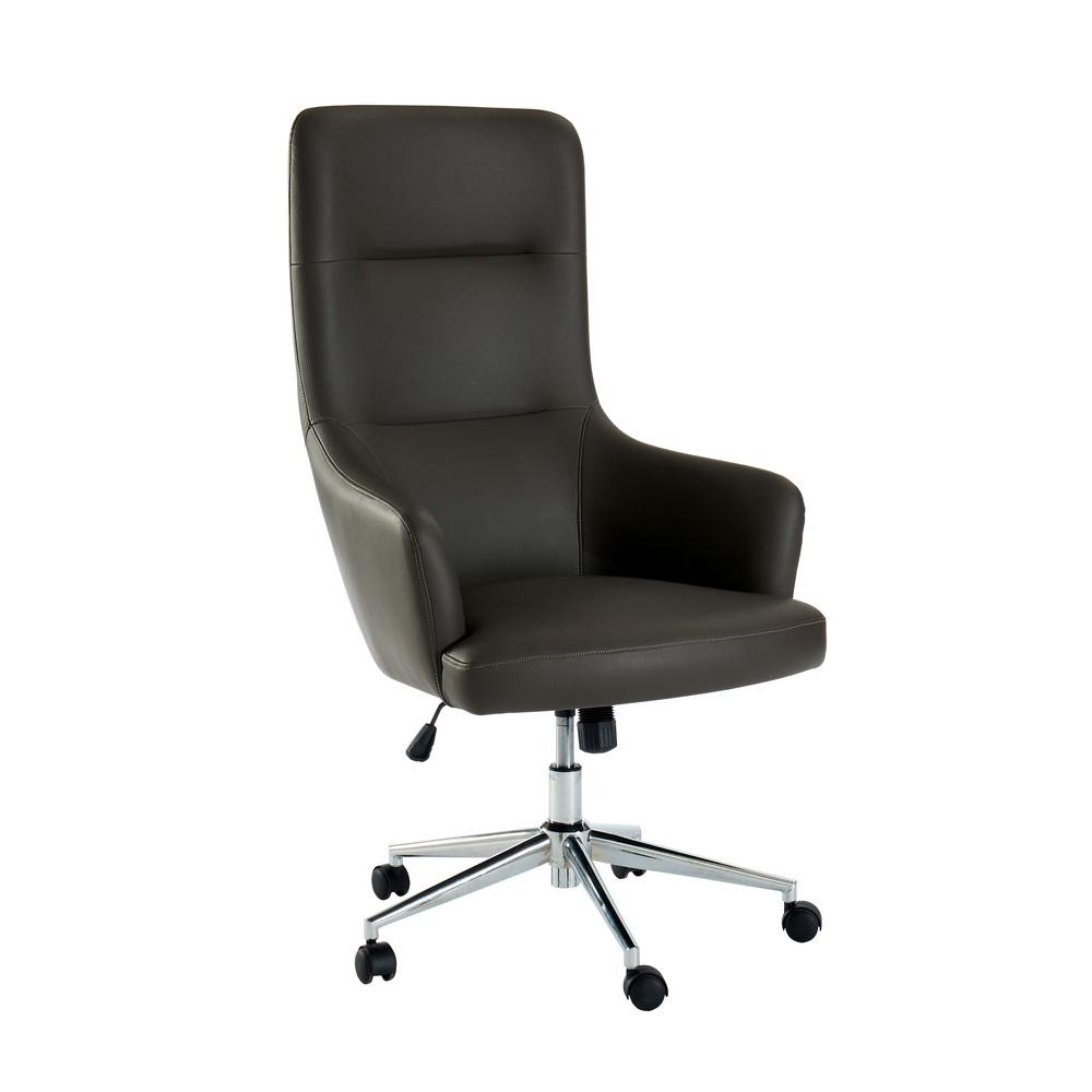 Height Adjustable Chair Davis Gray Upholstered Height Adjustable Office Chair