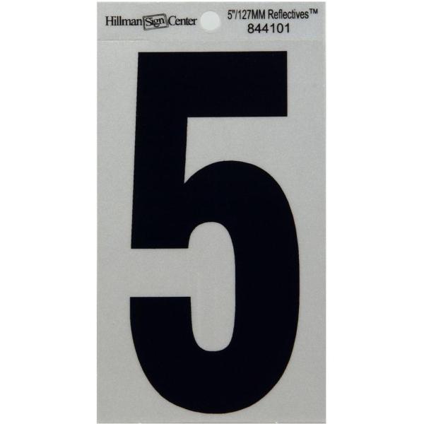 5 In. Black Steel Number 5-843065 - Home Depot