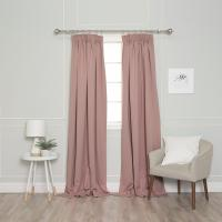 Best Home Fashion 84 in. L Pencil Pleat Blackout Curtains ...