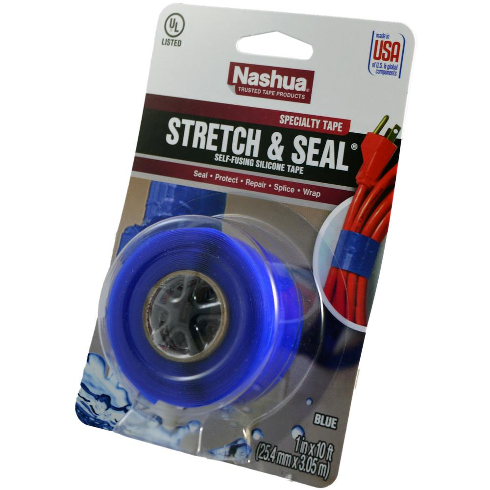 hight resolution of stretch and seal self fusing silicone tape in blue