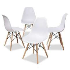 White Plastic Dining Chairs Amazon Crushed Velvet Chair Covers Kitchen Room Furniture The Home Sydnea