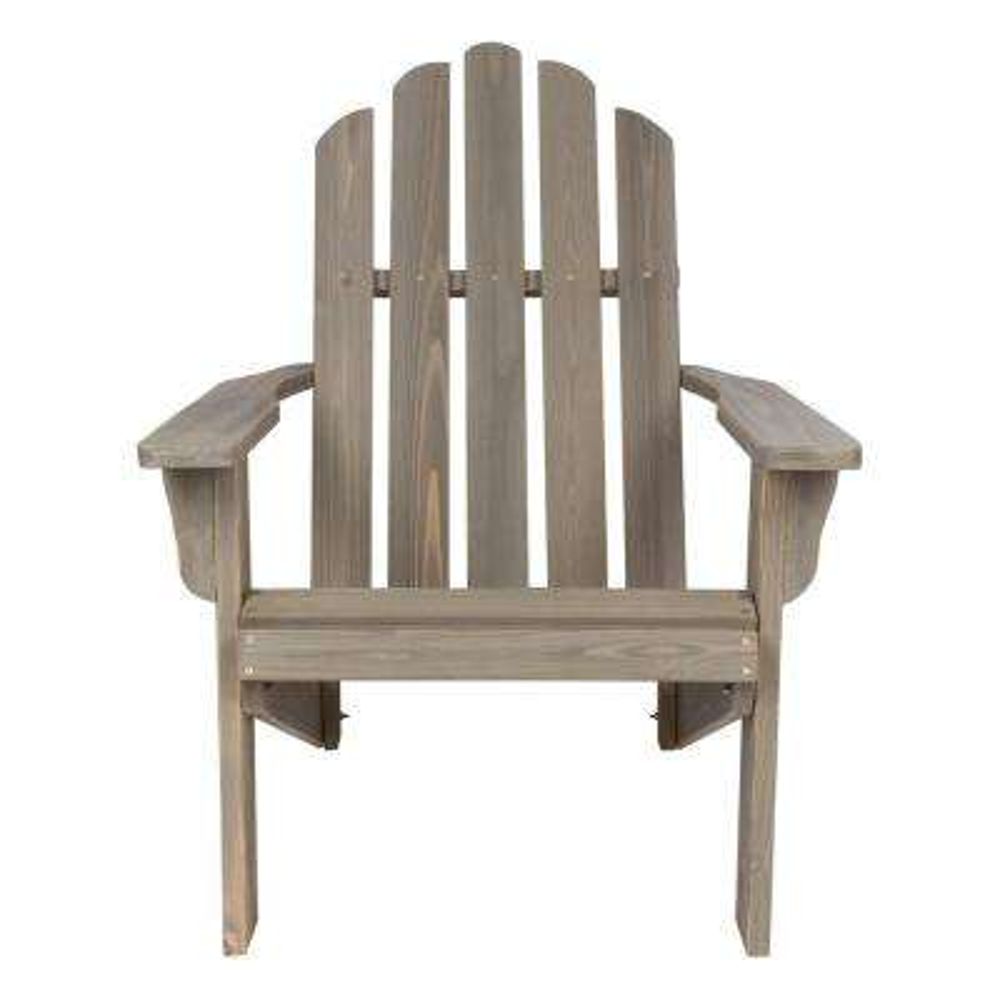 beach chairs home depot cracker barrel rocking chair the marina vintage gray rustic cedar wood adirondack