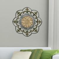 Antique Gold Medallion Metal Work Wall Decor-2421 - The ...