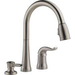 Kitchen Faucet Refurbished Cabinets Delta Kate Single Handle Pull Down Sprayer With Magnatite Docking And Soap