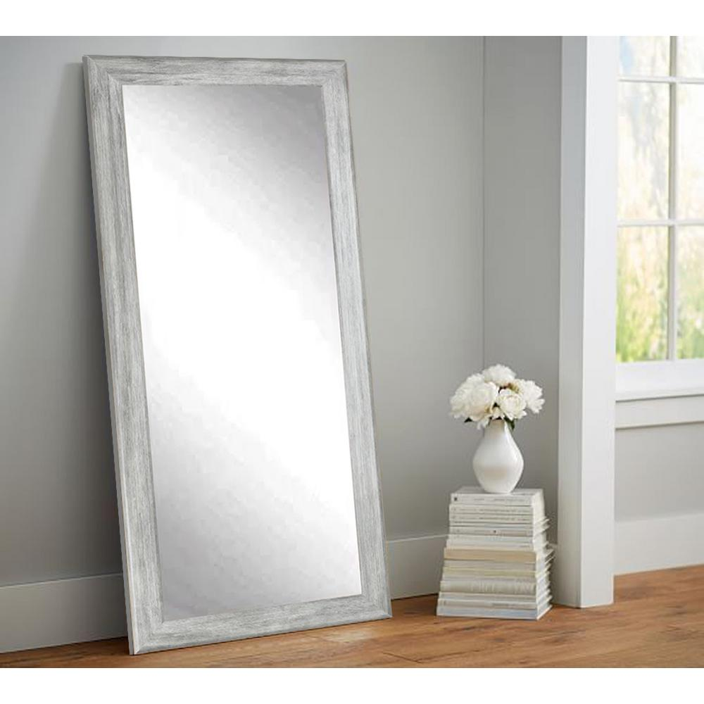 Weathered Gray Full Length Floor Wall MirrorBM035TS  The Home Depot