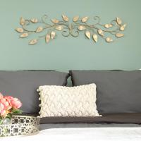Stratton Home Decor Brushed Gold Over the Door Metal ...