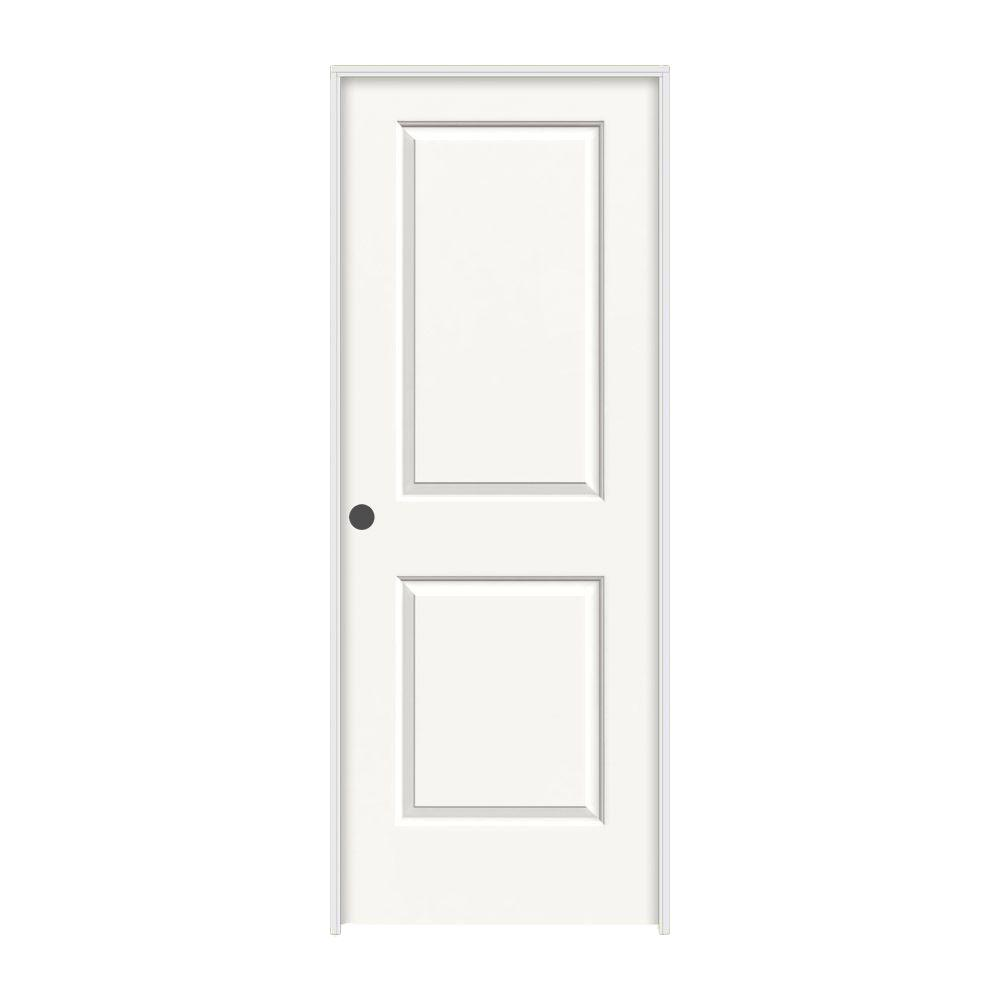 JELD-WEN 28 in. x 80 in. Cambridge White Painted Right