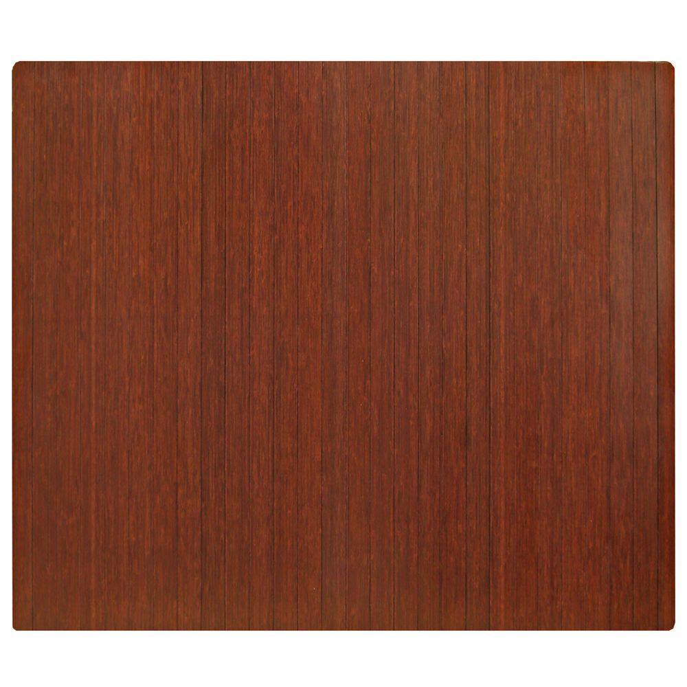 bamboo chair mat mount keyboard tray mats the home depot standard