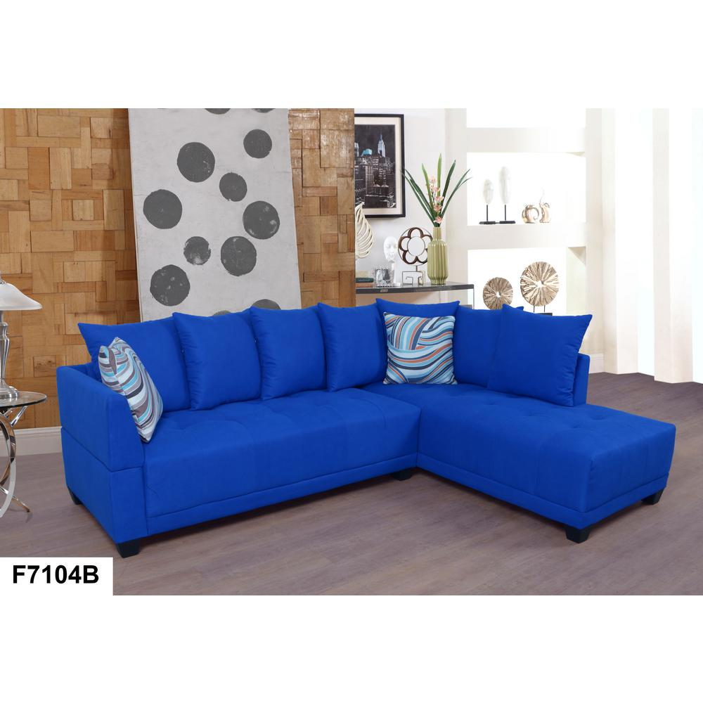tufted linen sectional sofa clic blue left set 2 piece sh7104b the