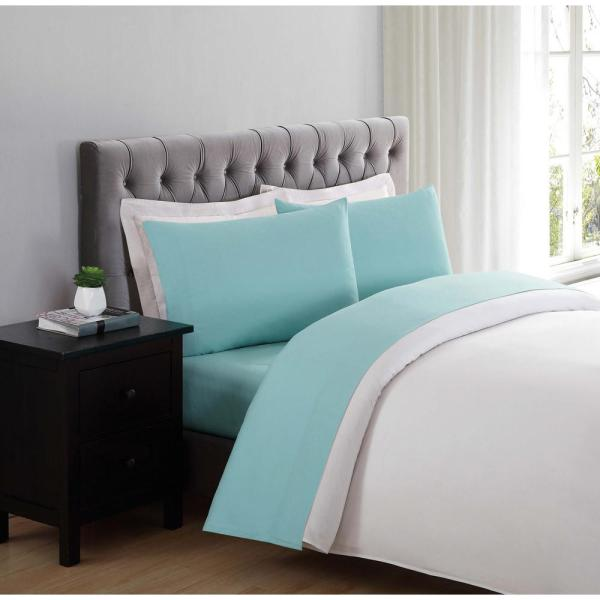 Soft Everyday Turquoise Queen Sheet Set-ss1658tuqn-4700 - Home Depot