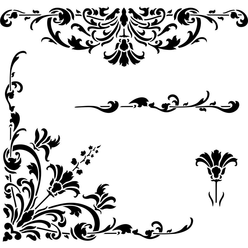 Designer Stencils Turn of the Century Stencil Details
