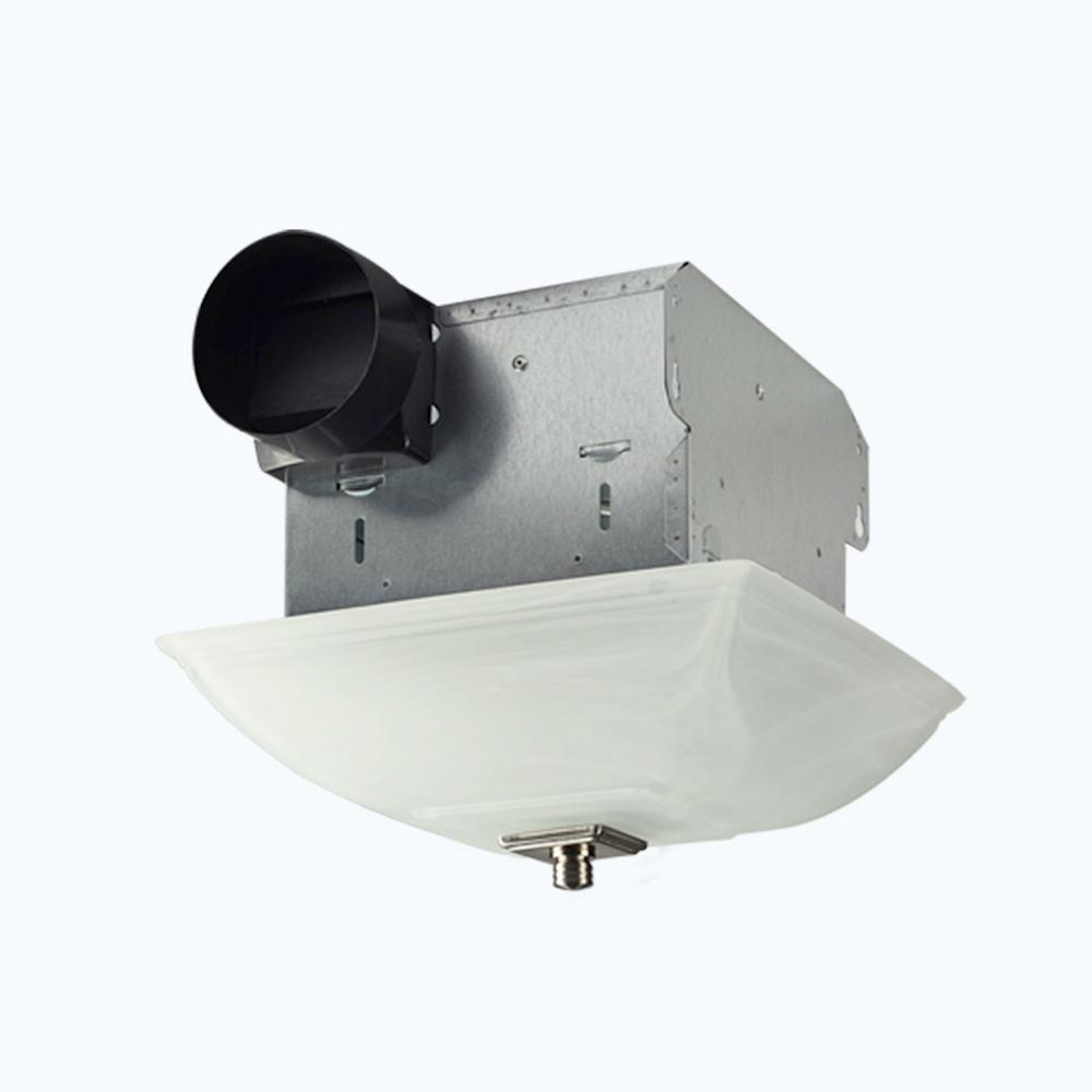 kitchen ceiling exhaust fan soap lift bridge bath decorative square 70 cfm with light and glass