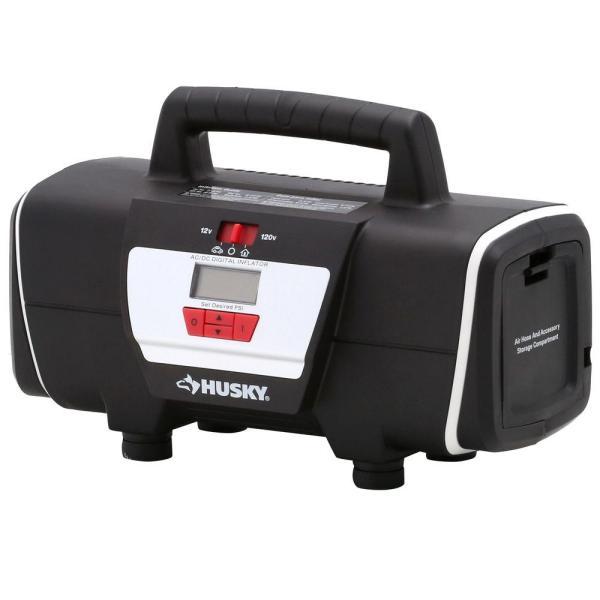 Husky 12-volt 120-volt Home And Auto Inflator-hd12120 - Depot