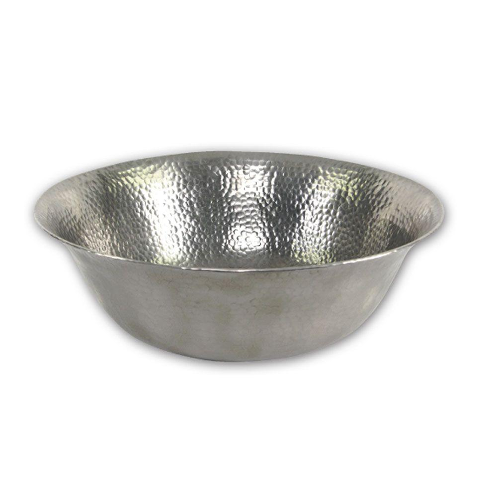 medium resolution of hammerwerks series 16 in freestanding copper vessel sink in lustrous pewter