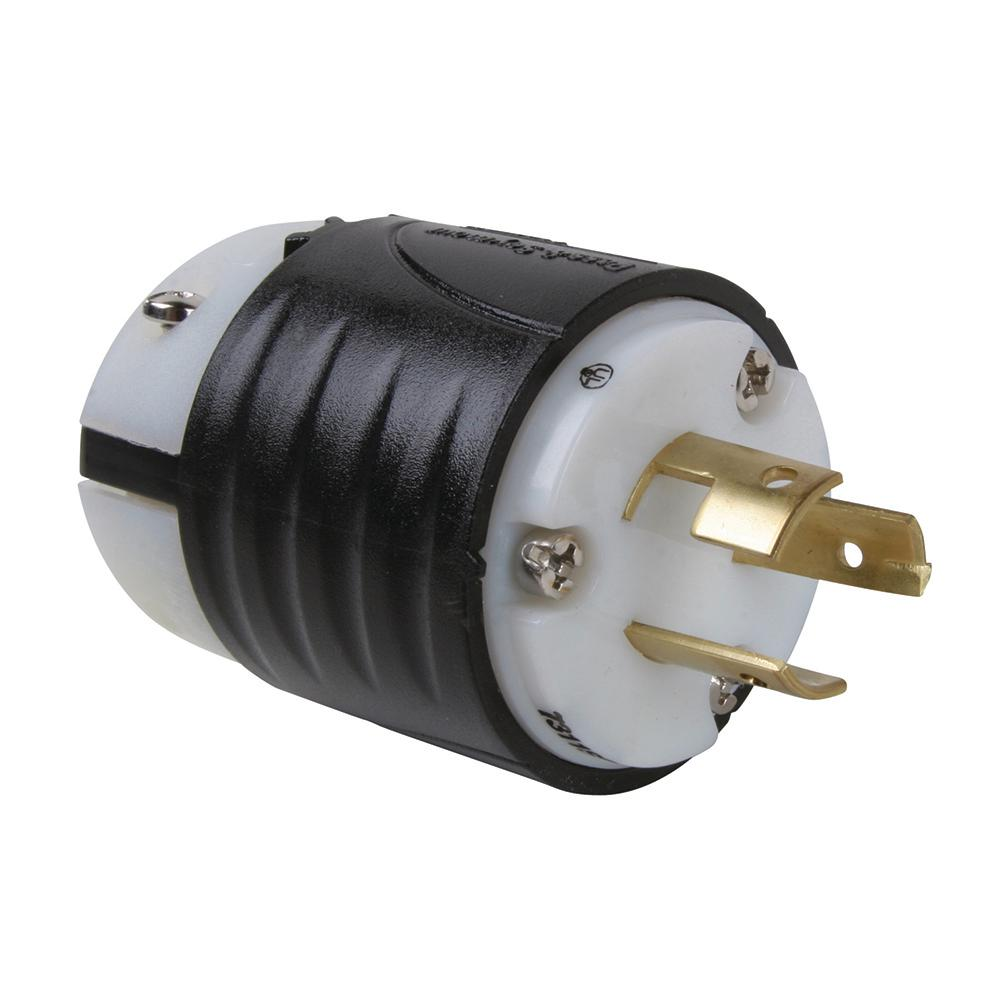 hight resolution of non nema 20 amp 125 250 volt locking plug black white 7311ss the home depot