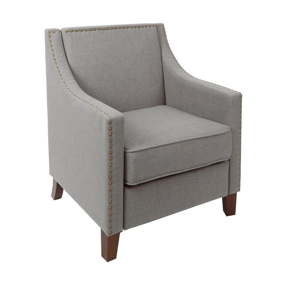 upholstered chair with nailhead trim big agnes helinox one silverwood stevenson light grey sloped arm club