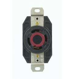 leviton 30 amp 480 volt 3 phase flush mounting grounding locking outlet black [ 1000 x 1000 Pixel ]
