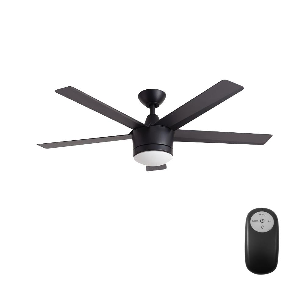 medium resolution of home decorators collection merwry 52 in integrated led indoor matte black ceiling fan with light