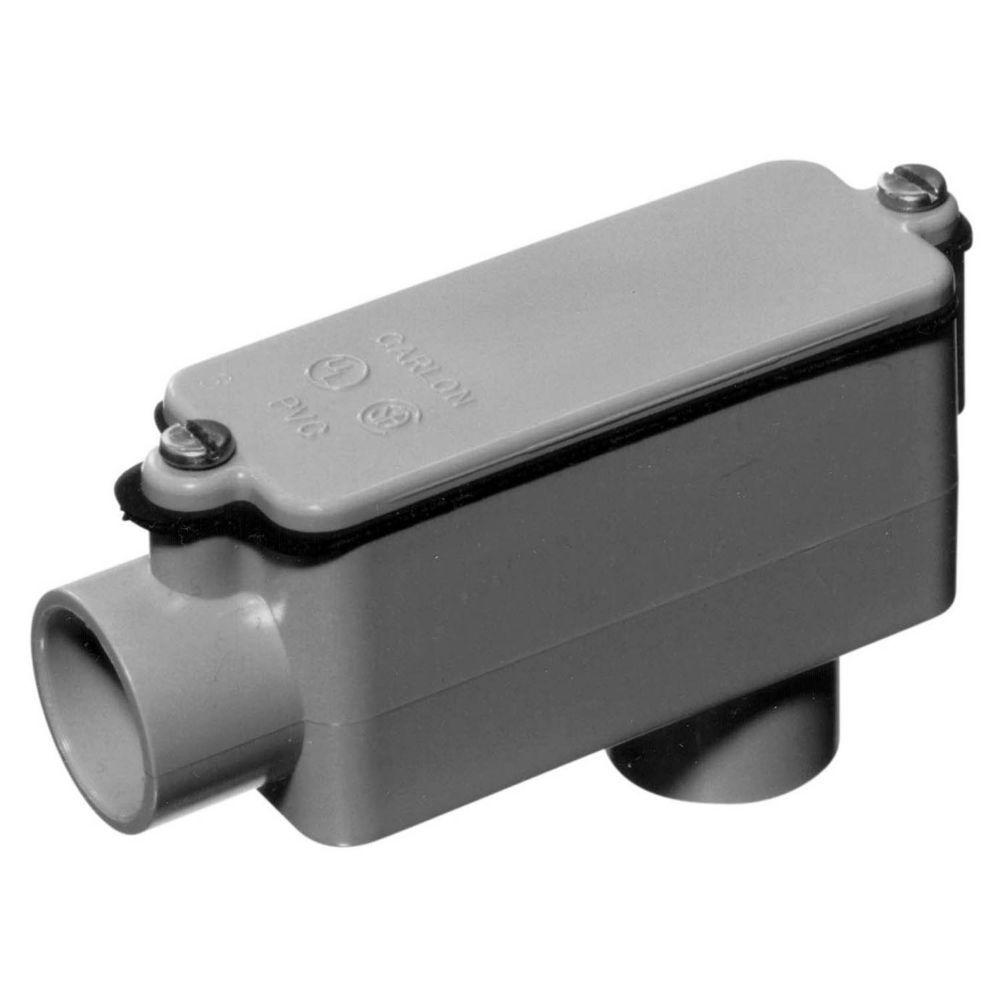 medium resolution of carlon 1 2 in schedule 40 and 80 pvc type lb conduit body