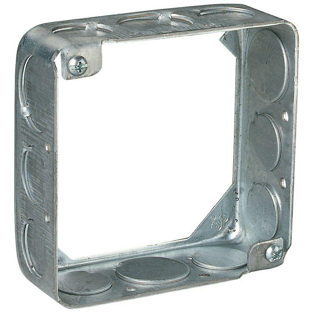 4 in. 21 cu. in. Square Box Extension Ring (Case of 20