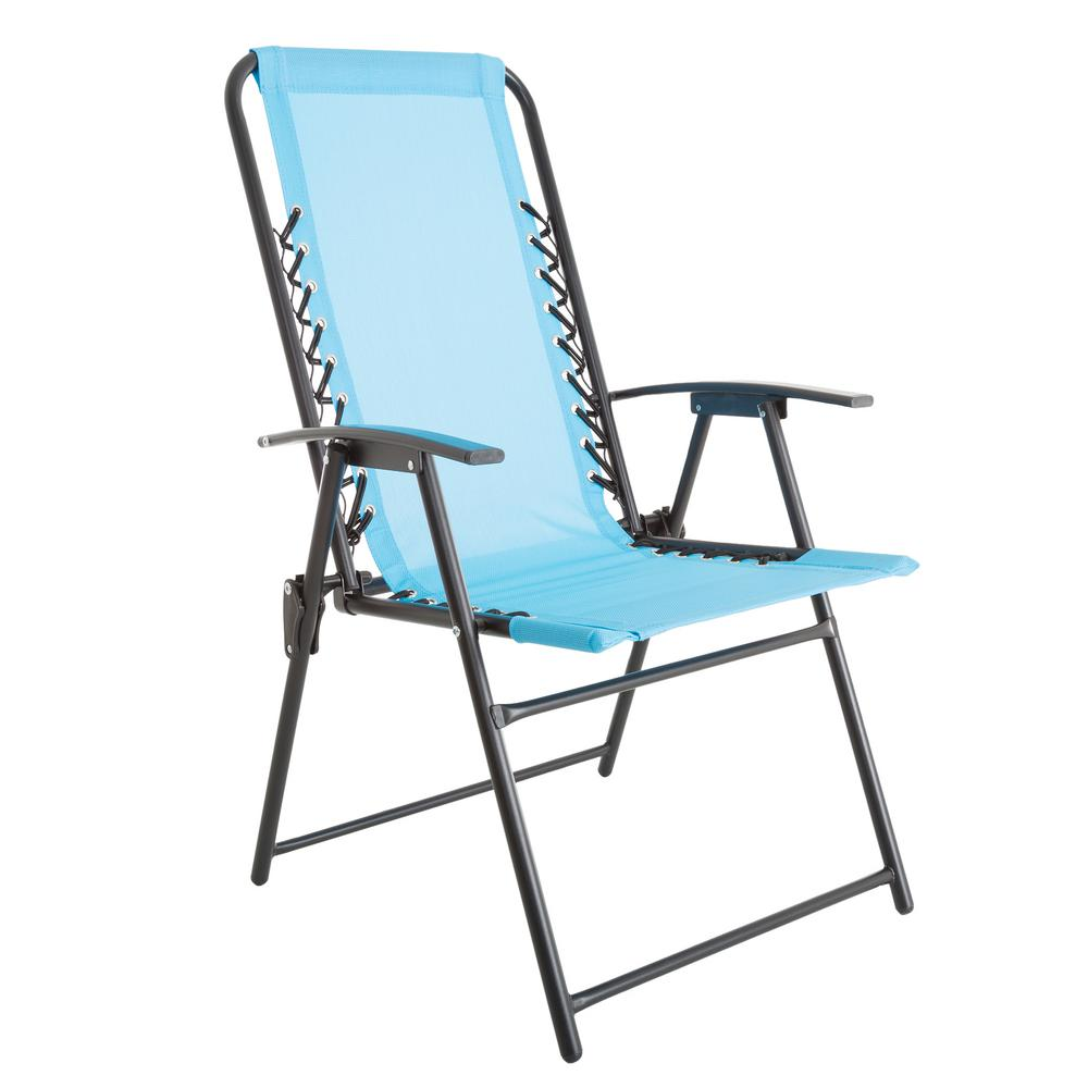 Foldable Patio Chairs Pure Garden Patio Lawn Chair In Blue
