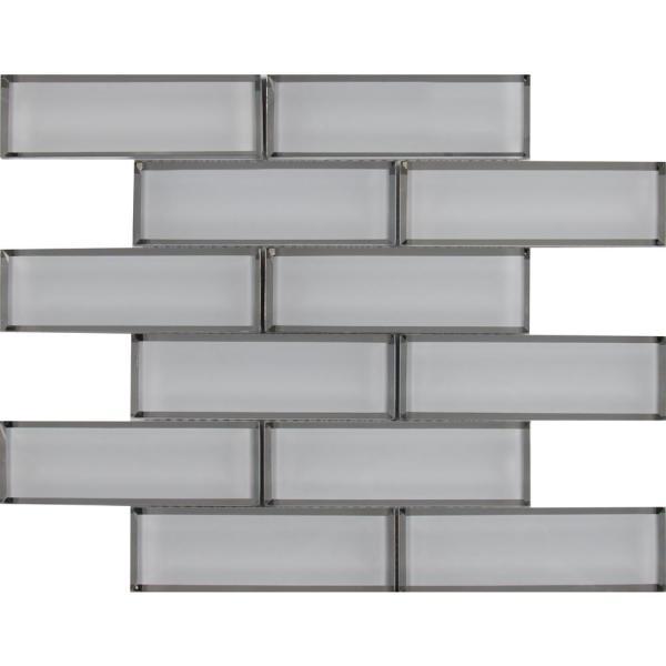 Home Depot White Beveled Subway Tile