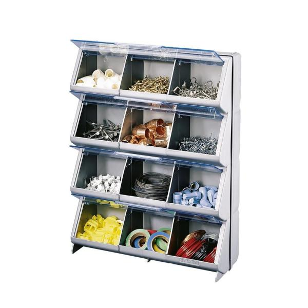 Stack- Clear-view 12-bin Organizer-cb-12 - Home Depot