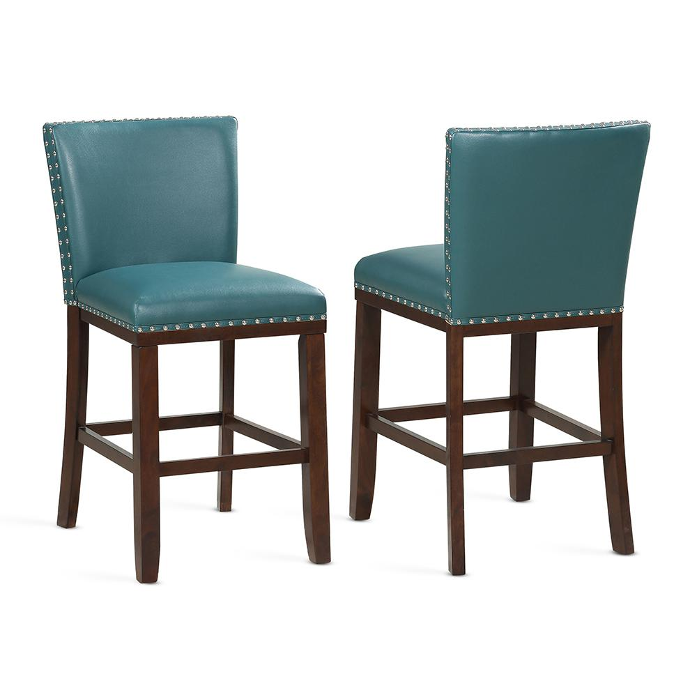 Counter Chair Tiffany 24 In Peacock Contemporary Counter Stools Set Of 2