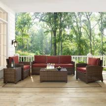 Crosley Bradenton 5-piece Wicker Outdoor Sofa Conversation