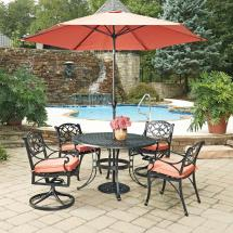 Home Styles Biscayne Black 7-piece Cast Aluminum Outdoor