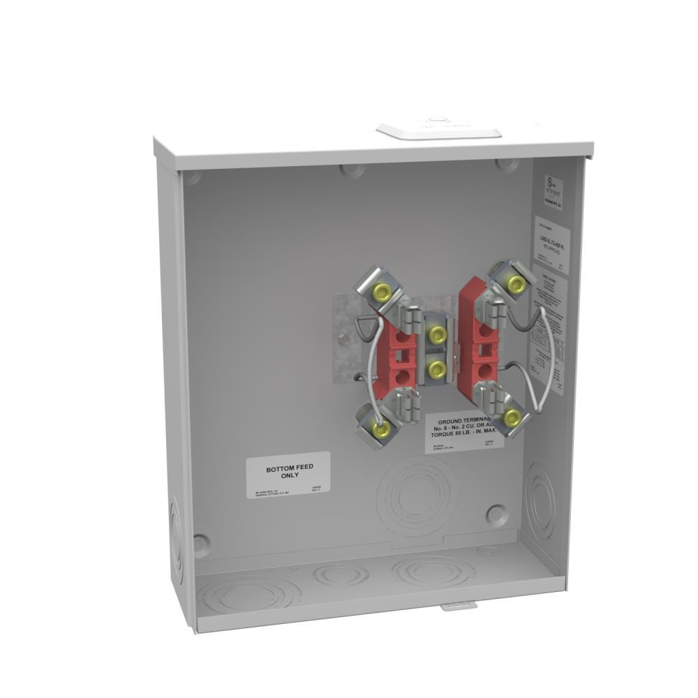 hight resolution of milbank 200 amp 4 terminal ringless sideway wire way overhead underground meter socket