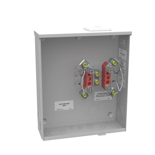 small resolution of milbank 200 amp 4 terminal ringless sideway wire way overhead underground meter socket