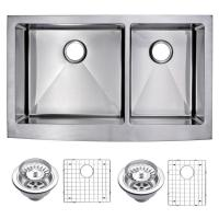 Water Creation Farmhouse Apron Front Stainless Steel 36 in ...
