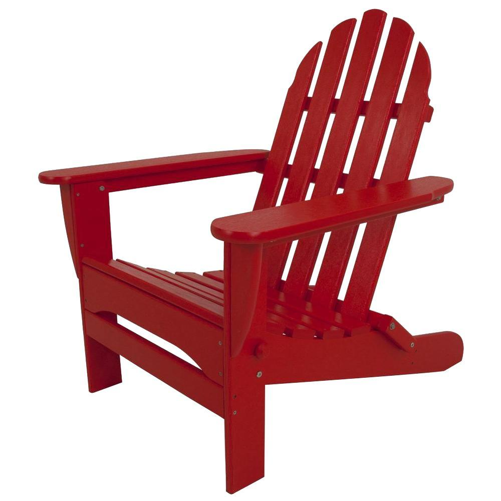 patio string chair neutral posture parts polywood classic sunset red plastic adirondack ad5030sr
