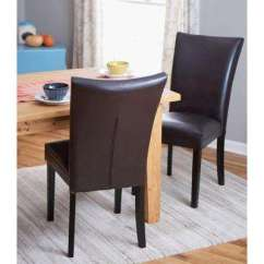 Chairs For Kitchen Ikea Appliances Classic Wood Parsons Chair Dining Dark Brown Set Of 2