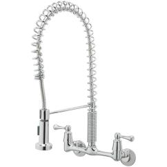 Kitchen Wall Faucets Plywood Cabinets Tosca 2 Handle Mount Pull Down Sprayer Faucet In Chrome