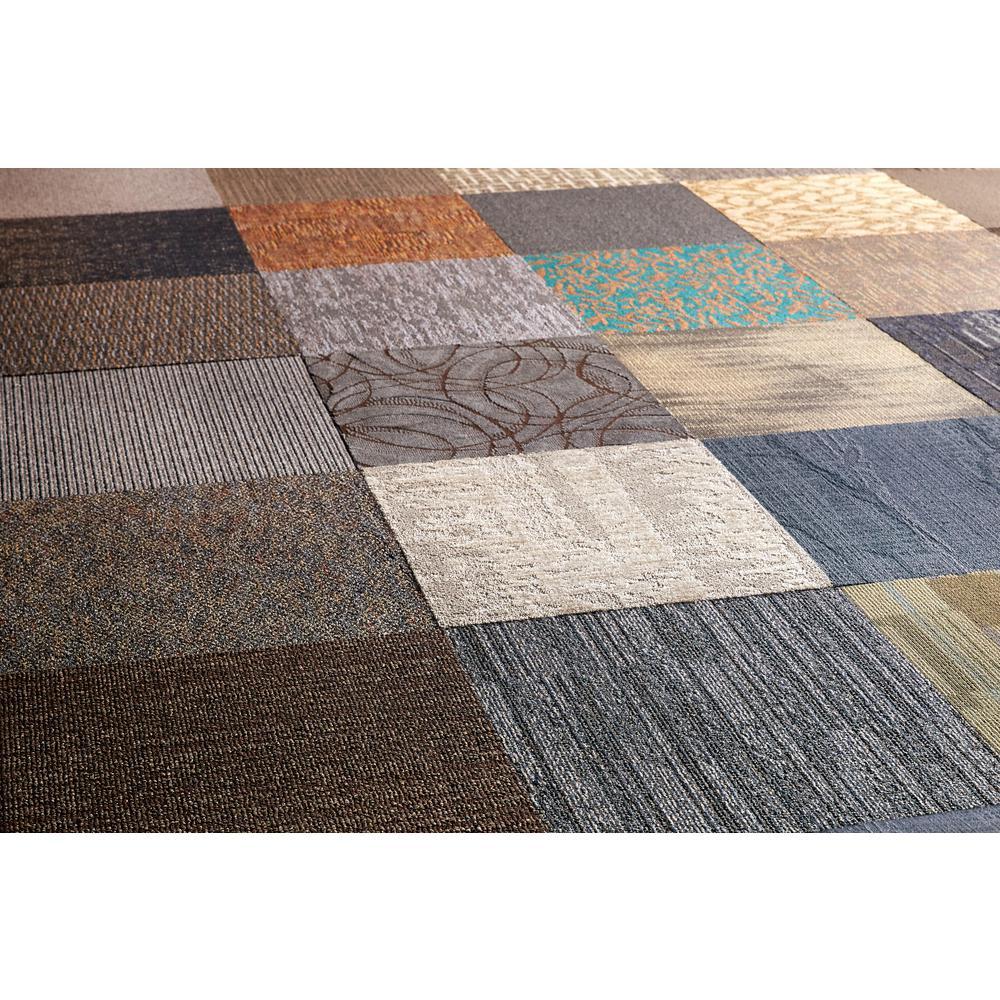 Versatile Assorted Commercial Pattern 24 in x 24 in Carpet Tile 10 TilesCaseNCVT002  The