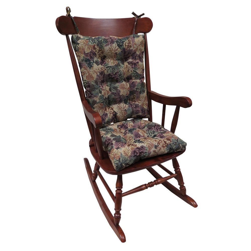 folding chair with cushion cost reupholster gripper jumbo cabernet rocking set 849363xl 86 the