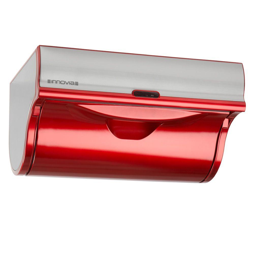 automatic paper towel dispenser for kitchen pine table innovia red wb2 159r the home depot