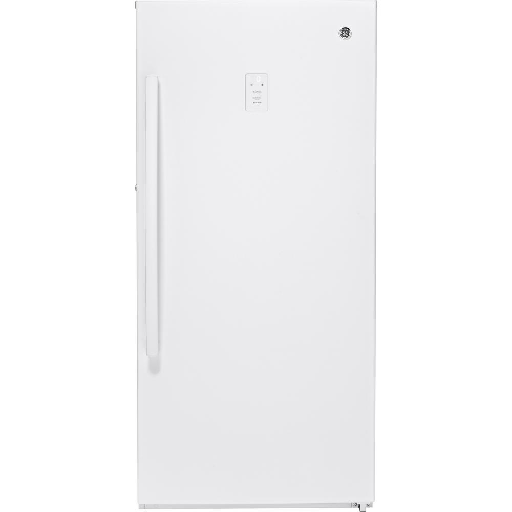 medium resolution of frost free upright freezer in white
