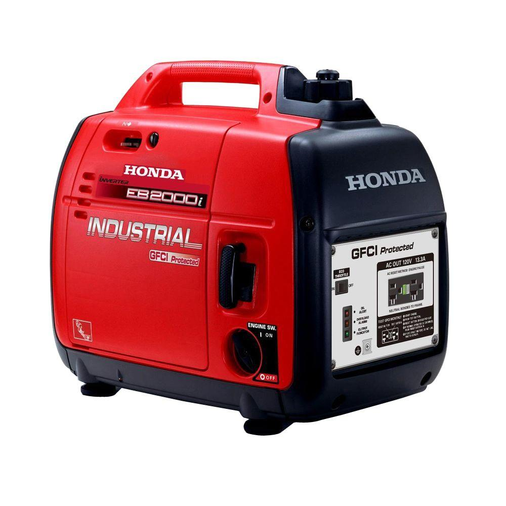 medium resolution of honda 1600 watt gasoline powered portable generator with gfci protection
