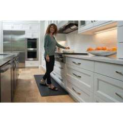 Kitchen Rugs And Mats Teak Outdoor Cabinets Cold Resistant Imprint Comfort Mat Bohemian Nantucket Series Black 26 In X 72