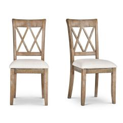 Steve Silver Dining Chairs Chair Covers And Sashes Near Me Company Franco Natural Set Of 2 Fr500s