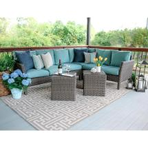 Blue Outdoor Sectionals with Cushions