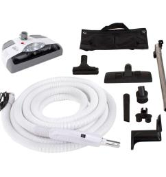 central vacuum kit with white power head for electrolux aerus beam [ 1000 x 1000 Pixel ]