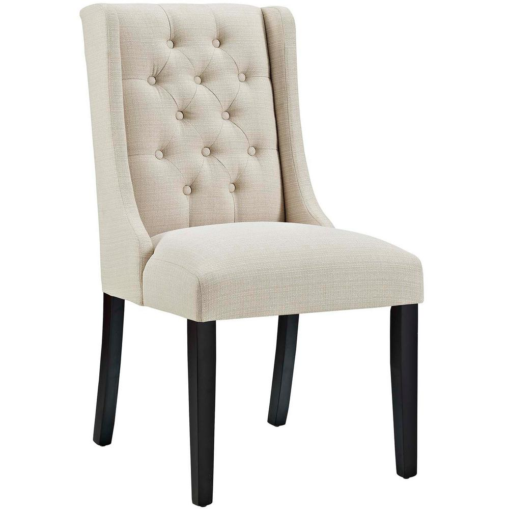 dining chairs fabric office chair jiji modway baronet beige eei 2235 bei the home depot