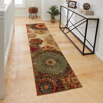 Runner Rugs Flooring The Home Depot | Home Depot Rug Runners By The Foot | Area Rugs | Regent Tan | Plastic | Carpet Protector | Mat