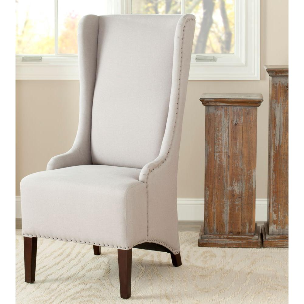 safavieh dining chairs mobile for the elderly bacall taupe linen chair mcr4501e home depot