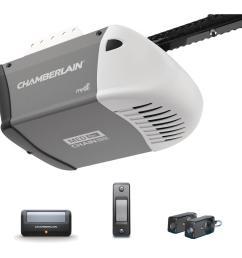 chamberlain 1 2 hp heavy duty chain drive garage door opener [ 1000 x 1000 Pixel ]